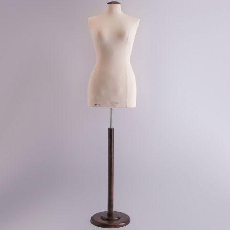 L/XL Γυναικείο Μπούστο Ραπτικής με Καφέ Ξύλινη Στρογγυλή Βάση