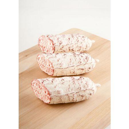 Σετ 3τμχ. Διακοσμητικά Λευκά σαλάμια μισά - απομίμηση 5x13cm