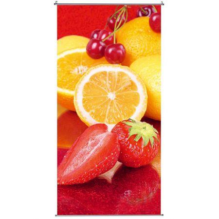 Διακοσμητική καλοκαιρινή αφίσα με φρούτα 200x100cm
