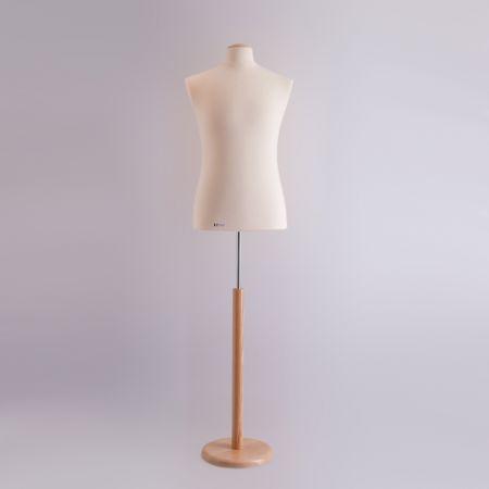 City Collection Ανδρικό Μπούστο Ραπτικής με Ξύλινη Στρογγυλή Βάση και καπάκι (L)