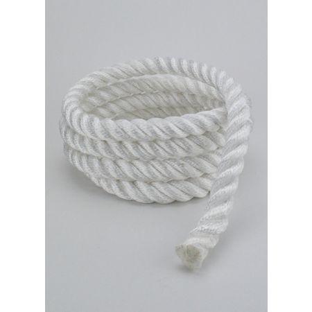Διακοσμητικό σχοινί τρίκλωνο Λευκό 22mm με το μέτρο