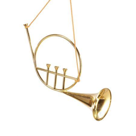 Διακοσμητική τρομπέτα - κόρνο χρυσό 50cm