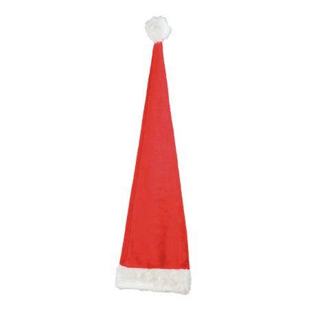 XL Χριστουγεννιάτικος σκούφος - Κόκκινο - Λευκό 110cm
