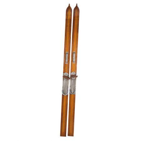Ζευγάρι ξύλινα πέδιλα του σκι Vintage 180cm