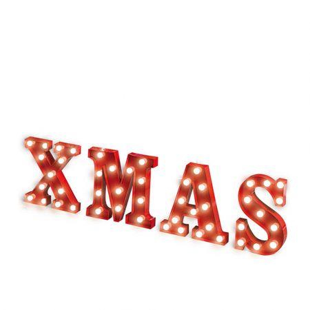 Χριστουγεννιάτικη φωτιζόμενη επιγραφή XMAS Κόκκινη 115x33x5cm