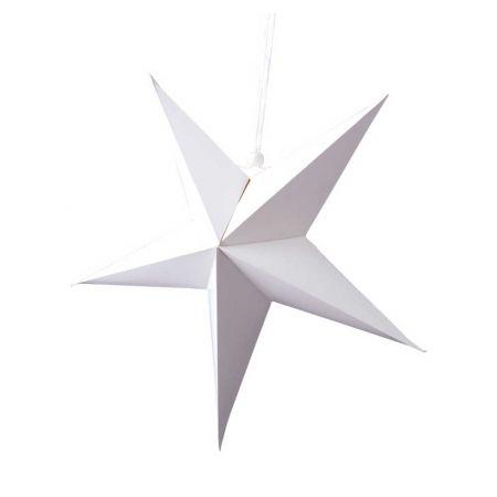 Χριστουγεννιάτικο αστέρι κρεμαστό αναδιπλούμενο - Λευκό 60cm