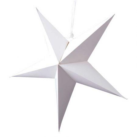 Χριστουγεννιάτικο αστέρι κρεμαστό αναδιπλούμενο - Λευκό 90cm
