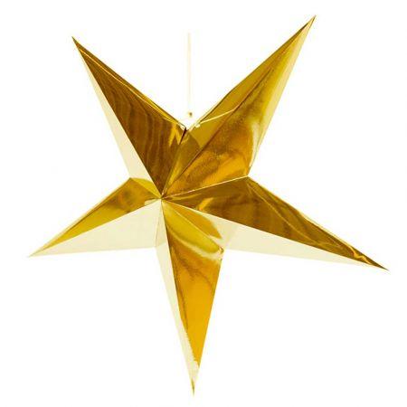 Χριστουγεννιάτικο αστέρι κρεμαστό αναδιπλούμενο - Χρυσό 90cm