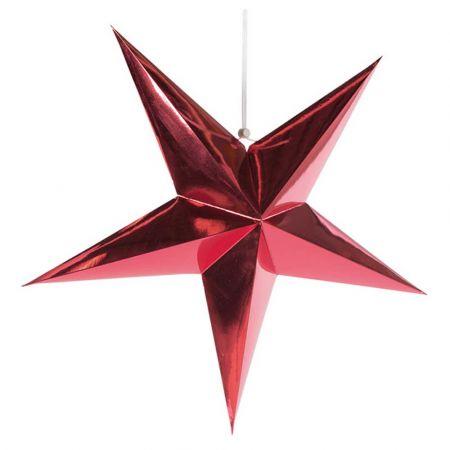 Χριστουγεννιάτικο αστέρι κρεμαστό αναδιπλούμενο - Κόκκινο 90cm