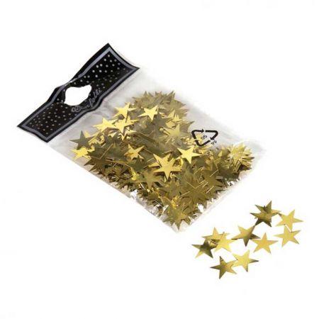 Συσκευασία 30gr αστεράκια foil Χρυσά 1,5cm