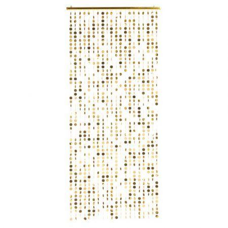 Διακοσμητική κουρτίνα με κύκλους - Χρυσό 80x170cm