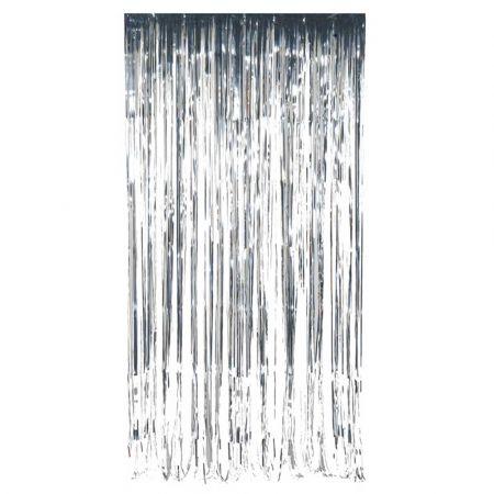 Διακοσμητική κουρτίνα foil - Ασημί 100x200cm