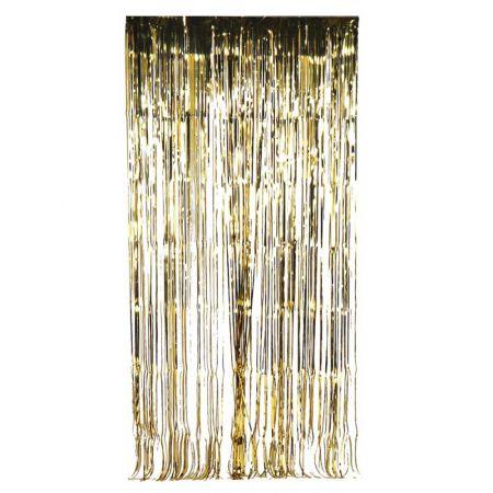 Διακοσμητική κουρτίνα foil - Χρυσή 100x200cm