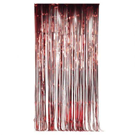 Διακοσμητική κουρτίνα foil - Κόκκινη 100x200cm