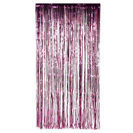Διακοσμητική κουρτίνα foil - Μωβ 100x200cm