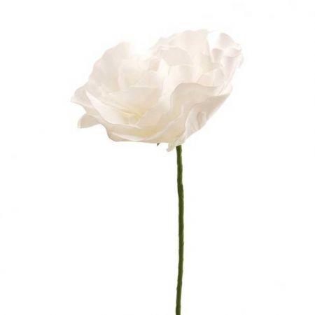 XL Διακοσμητικό άνθος παιώνιας Λευκό 30cm