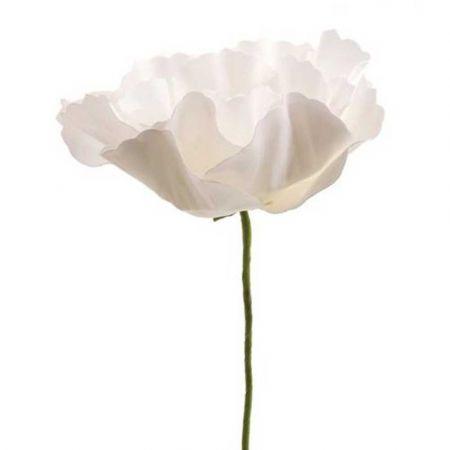 XL Διακοσμητικό άνθος παιώνιας foam Λευκό 50cm