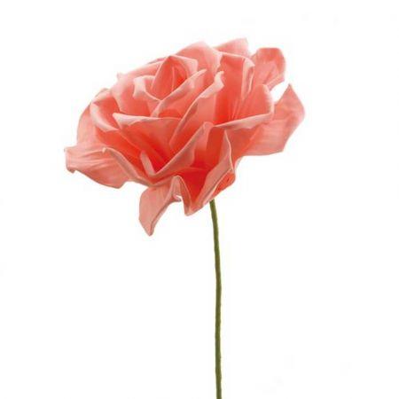 XL Διακοσμητικό άνθος τριαντάφυλλου foam Ροδακινί 30cm