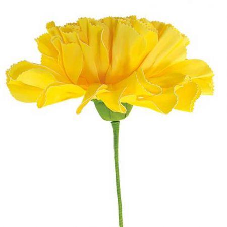 XL Διακοσμητικό λουλούδι - άνθος foam Κίτρινο 80x60cm