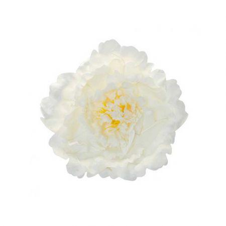 XL Διακοσμητικό άνθος Παιώνιας Λευκό 35cm