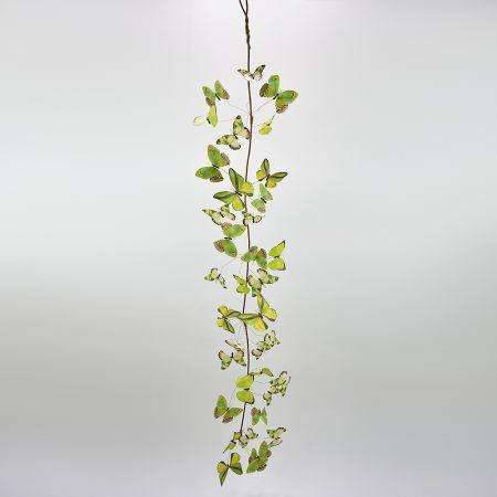 Διακοσμητική γιρλάντα με Πράσινες πεταλούδες 150cm