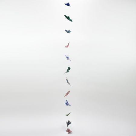 Διακοσμητική γιρλάντα με Πολύχρωμες πεταλούδες 180cm