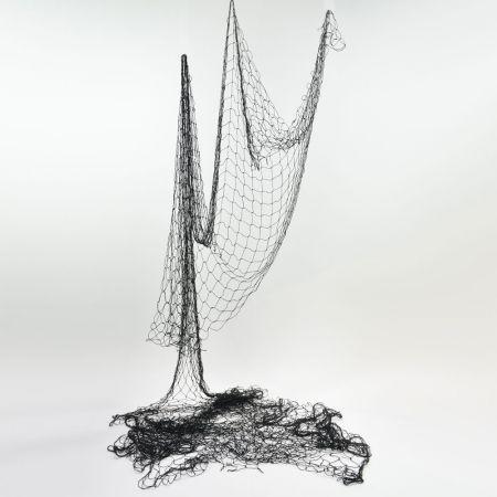 Διακοσμητικό δίχτυ ψαρέματος λεπτό Μαύρο 120x500cm