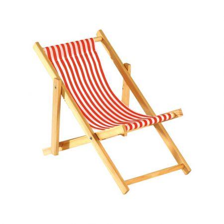 Διακοσμητική καρέκλα παραλίας mini Κόκκινο - Λευκό 18x38cm