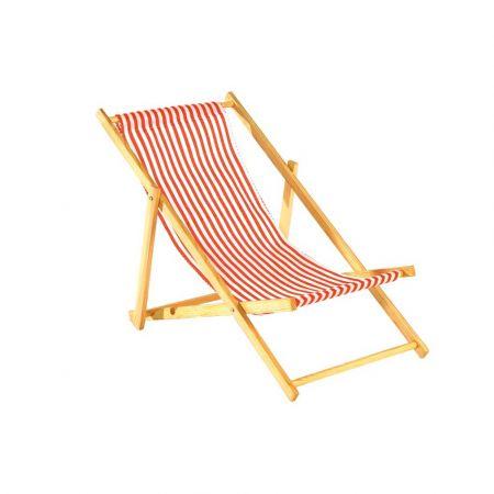 Διακοσμητική καρέκλα παραλίας mini Κόκκινο - Λευκό 25x52cm