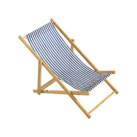Διακοσμητική καρέκλα παραλίας mini Μπλε - Λευκό 25x52cm