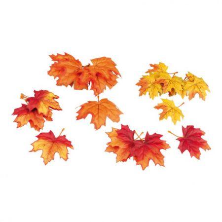 Σετ 36τμχ Διακοσμητικά φθινοπωρινά φύλλα Σφενδάμου 15cm