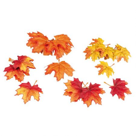 Σετ 72τχ Διακοσμητικά φθινοπωρινά φύλλα Σφενδάμου 15cm