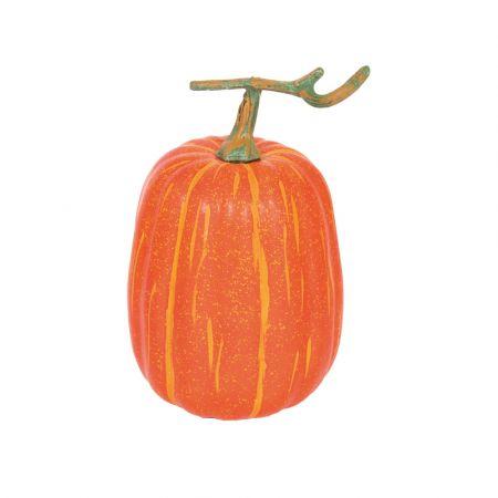 Διακοσμητική κολοκύθα με κοτσάνι Πορτοκαλί 26cm