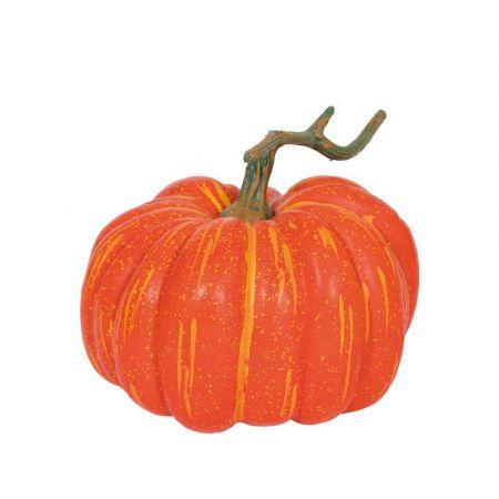 Διακοσμητική κολοκύθα με κοτσάνι Πορτοκαλί 21cm