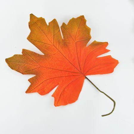 XL Διακοσμητικό φθινοπωρινό φύλλο Πορτοκαλί 80x60cm
