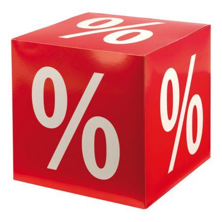 Διακοσμητικός κύβος με την επιγραφή - % - 32cm