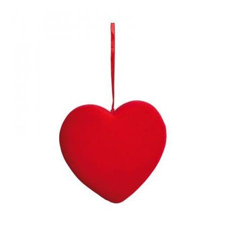Διακοσμητική καρδιά βελούδινη 19cm