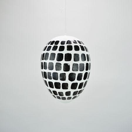 Κρεμαστό Πασχαλινό αυγό Λευκό - Μαύρο 20cm