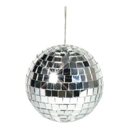 Διακοσμητική Disco μπάλα Ασημί 10cm