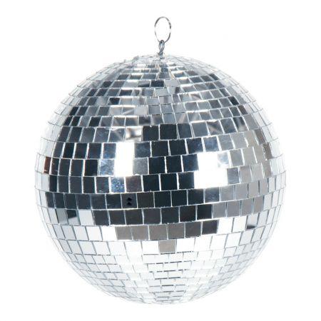 Διακοσμητική Disco μπάλα Ασημί 25cm