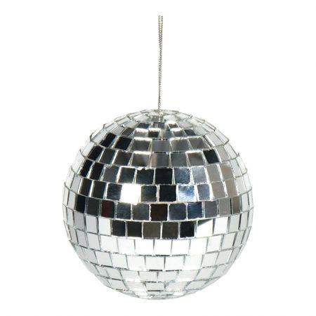 Διακοσμητική Disco μπάλα Ασημί 8cm