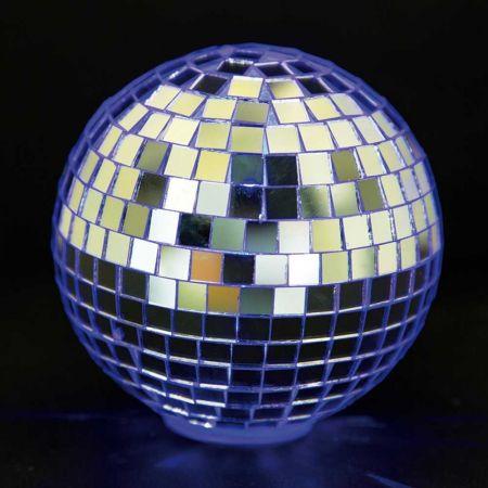 Διακοσμητική LED Discoball Ασημί / RGB LED 10cm