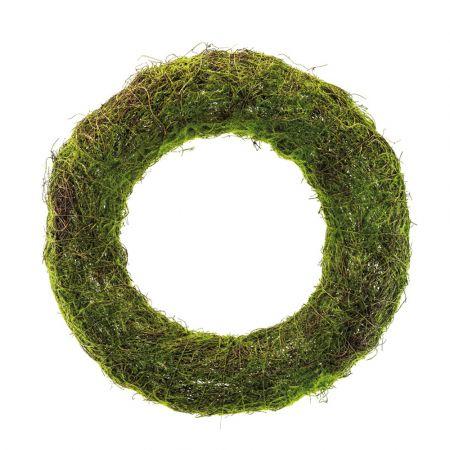 Στεφάνι με συνθετικά βρύα Πράσινο 50cm