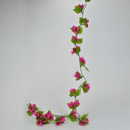 Διακοσμητική γιρλάντα με άνθη Βουκαμβίλιας Φούξια 180cm