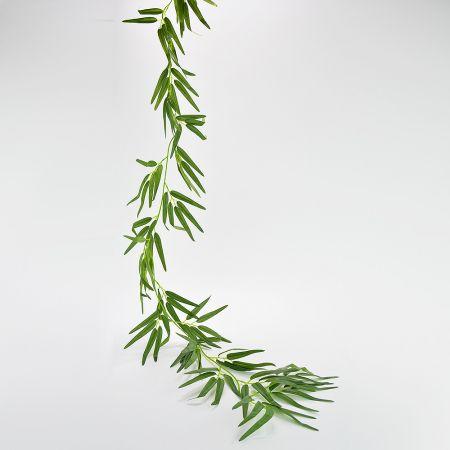 Διακοσμητική γιρλάντα Μπαμπού Πράσινη 180cm