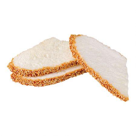Σετ 3τμχ Διακοσμητικές φέτες Λευκό ψωμί - απομίμηση 17x9cm