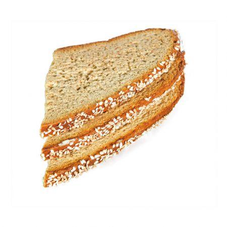 Σετ 3τμχ Διακοσμητικές φέτες Μαύρο ψωμί - απομίμηση 17x9cm
