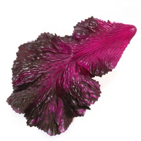 Σετ 3τχ Διακοσμητικά φύλλα μαρουλιού - απομίμηση Μωβ 25x16cm