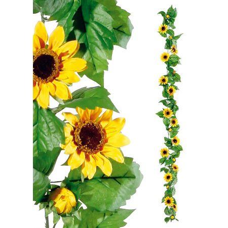 Διακοσμητική φθινοπωρινή γιρλάντα με ηλίανθους, 180 cm