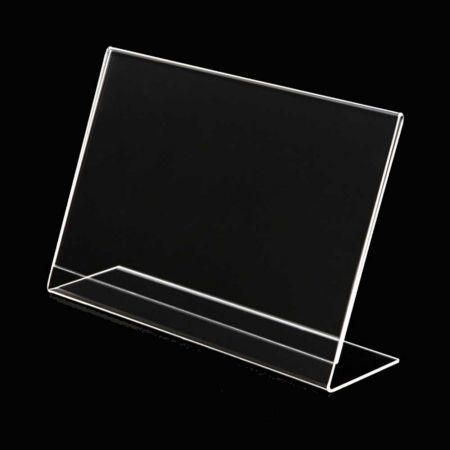 Σταντ εντύπων - τιμών Plexiglass - ενός φύλλου - Οριζόντιο - κεκλιμένο A3 - 43x30cm